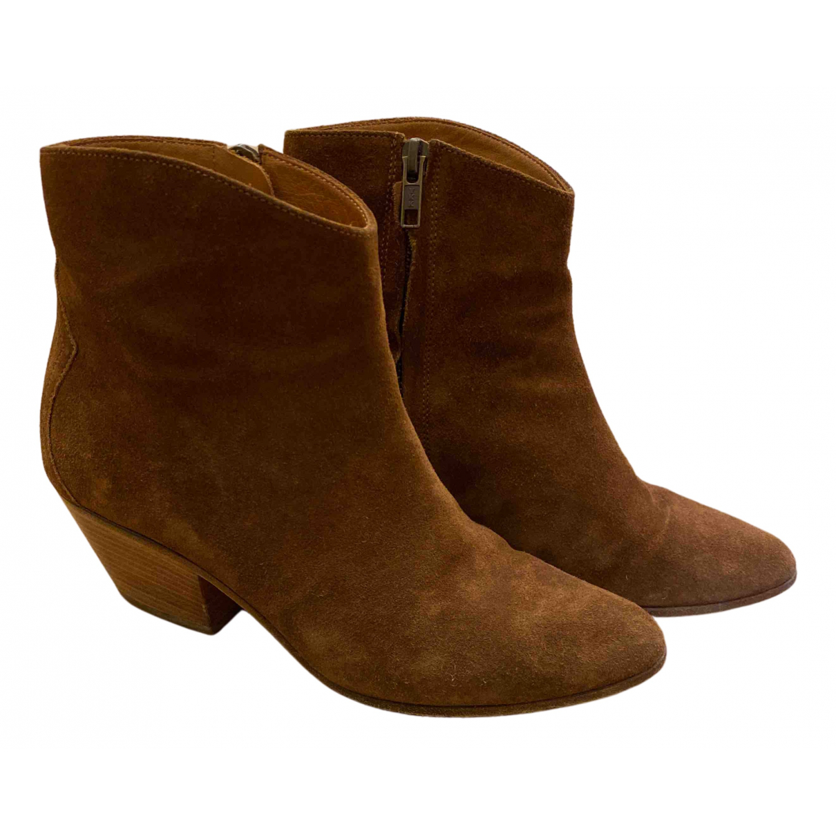 Isabel Marant Etoile N Camel Suede Ankle boots for Women 37 EU