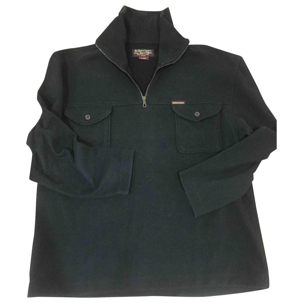 Non Signe / Unsigned \N Pullover.Westen.Sweatshirts  in  Schwarz Polyester