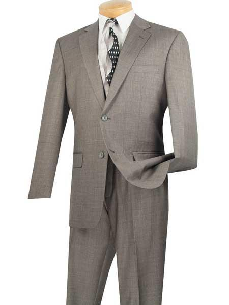 2 Piece Notch Lapel Gray Big And Tall Single Breasted Extra Long Suit