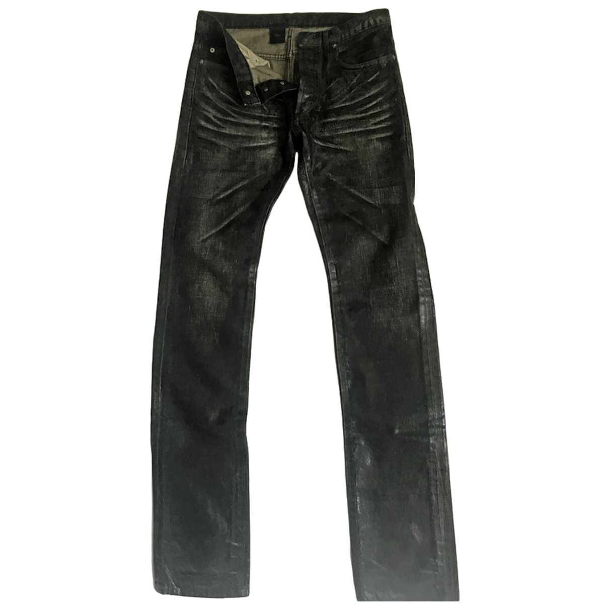 Dior Homme \N Black Cotton Trousers for Men 28 UK - US