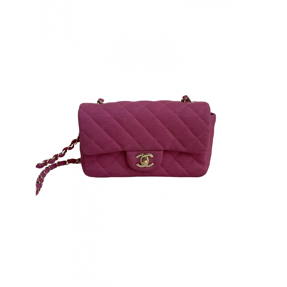 Chanel Timeless/Classique Pink Cloth handbag for Women \N