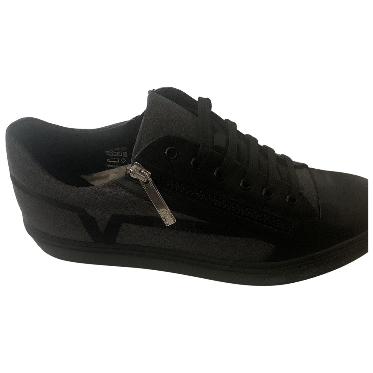 Versace - Baskets   pour homme en toile - noir