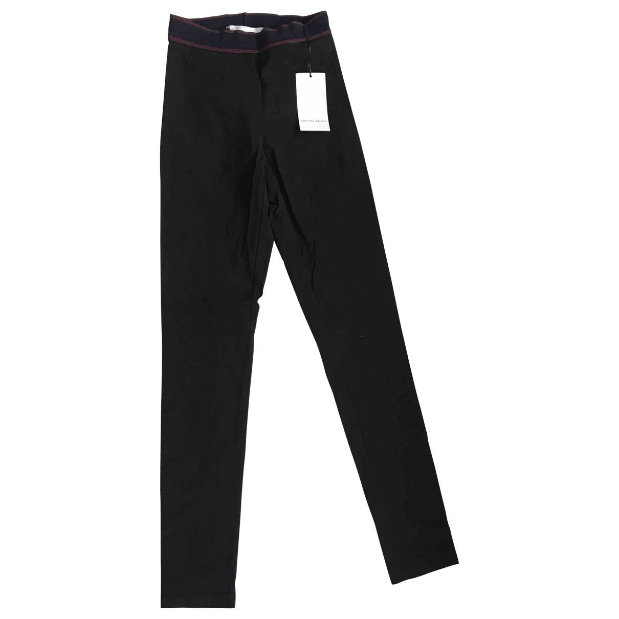 Liviana Conti \N Black Trousers for Women 40 IT
