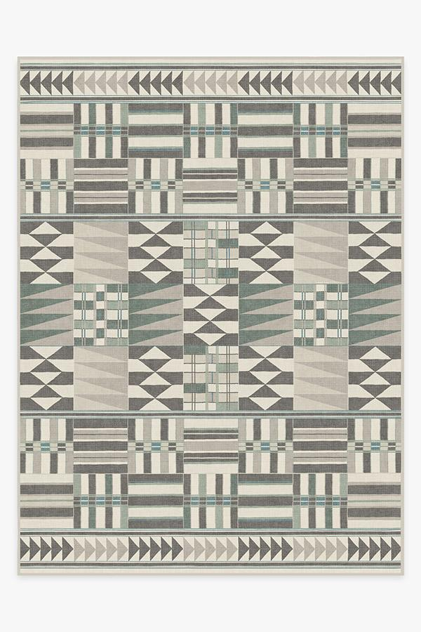 Washable Rug Cover & Pad | Obi Abalone Rug | Stain-Resistant | Ruggable | 9'x12'