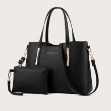 2pcs Zip Up Bag Set