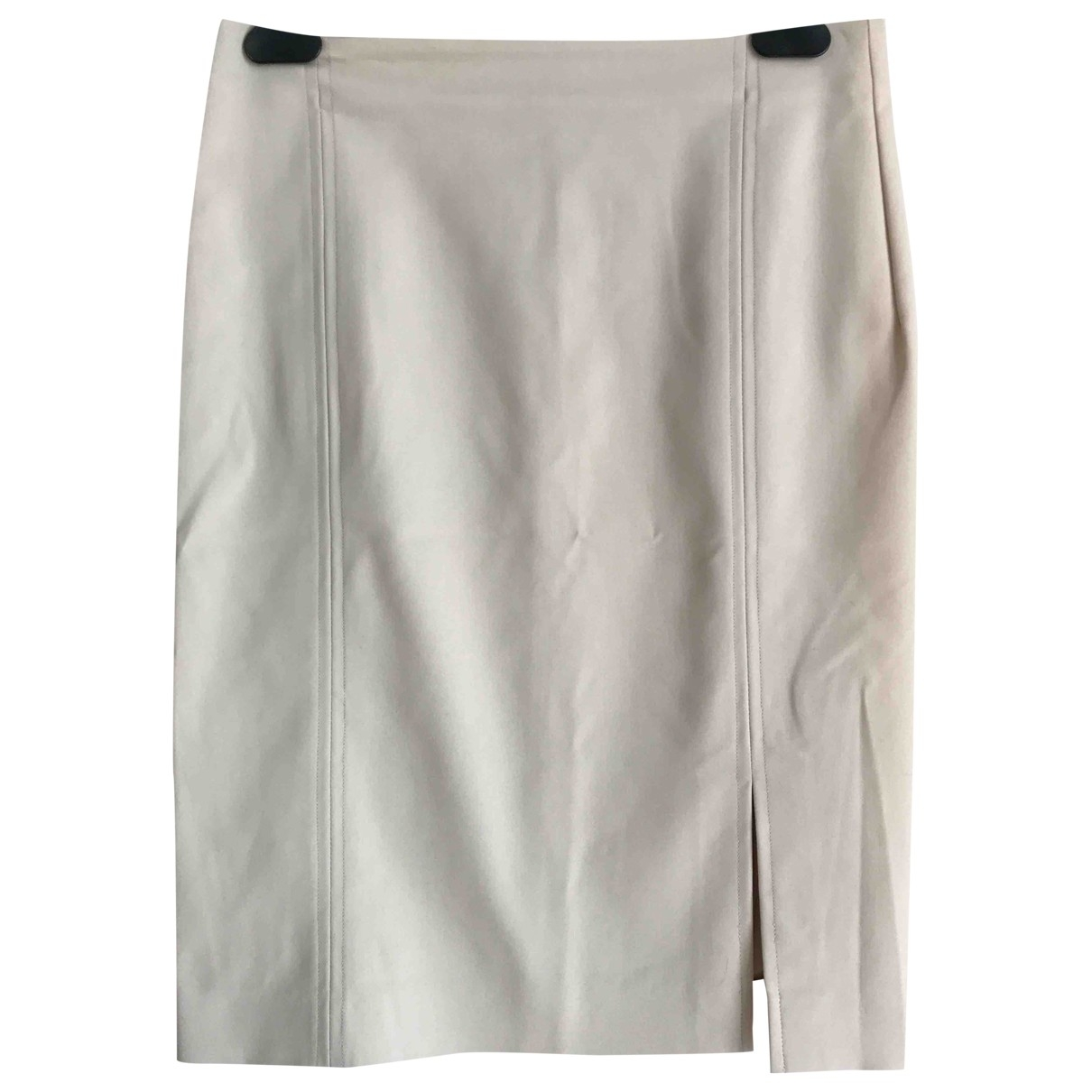 Non Signé / Unsigned \N Beige Cotton - elasthane skirt for Women 38 IT