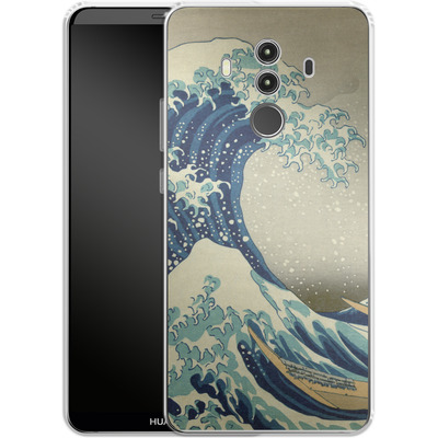 Huawei Mate 10 Pro Silikon Handyhuelle - Great Wave Off Kanagawa By Hokusai von caseable Designs