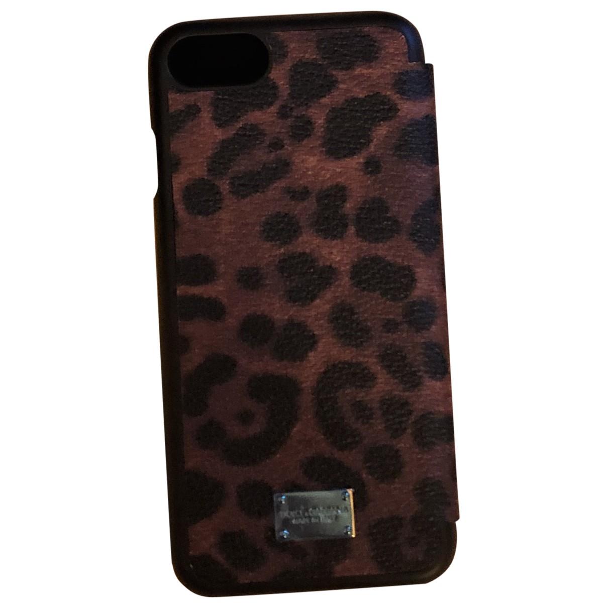 Dolce & Gabbana - Bijoux de portable   pour femme en cuir - marron
