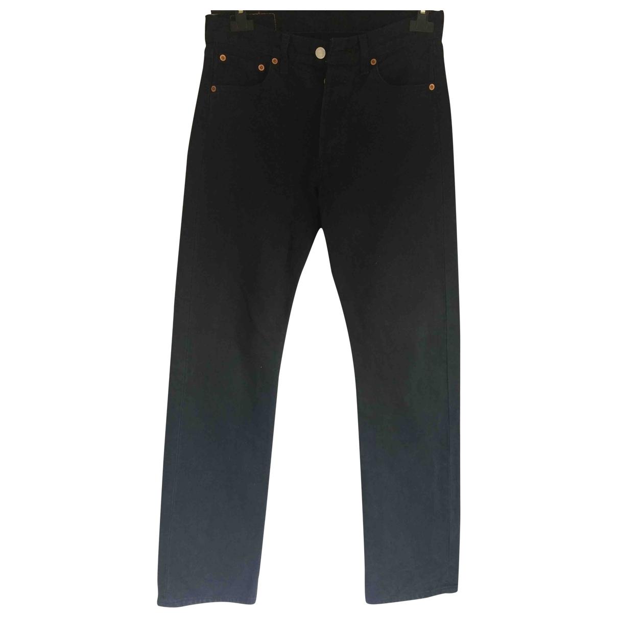 Levi's Vintage Clothing \N Black Cotton Trousers for Women 000 0-5