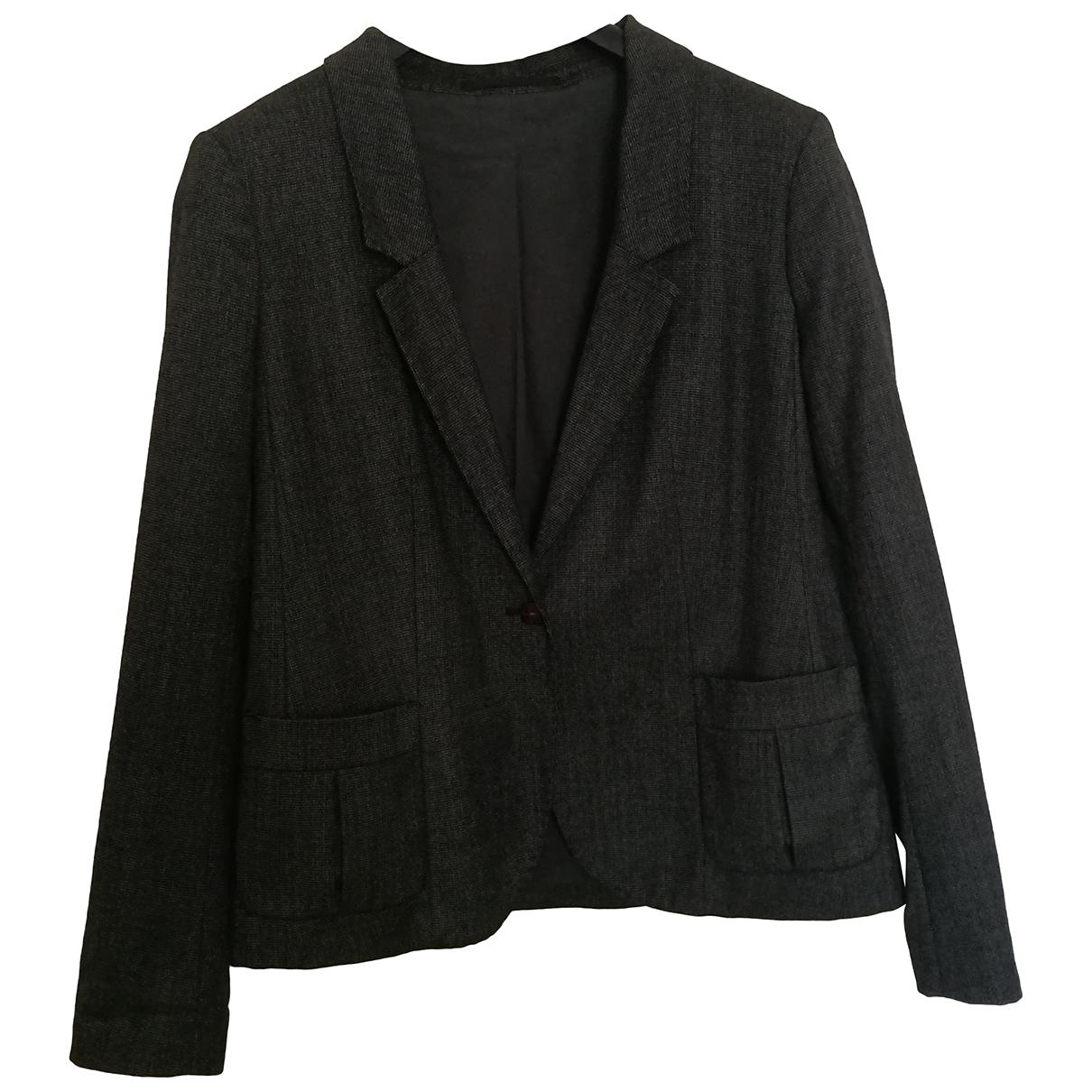 Lacoste - Veste   pour femme en coton - gris