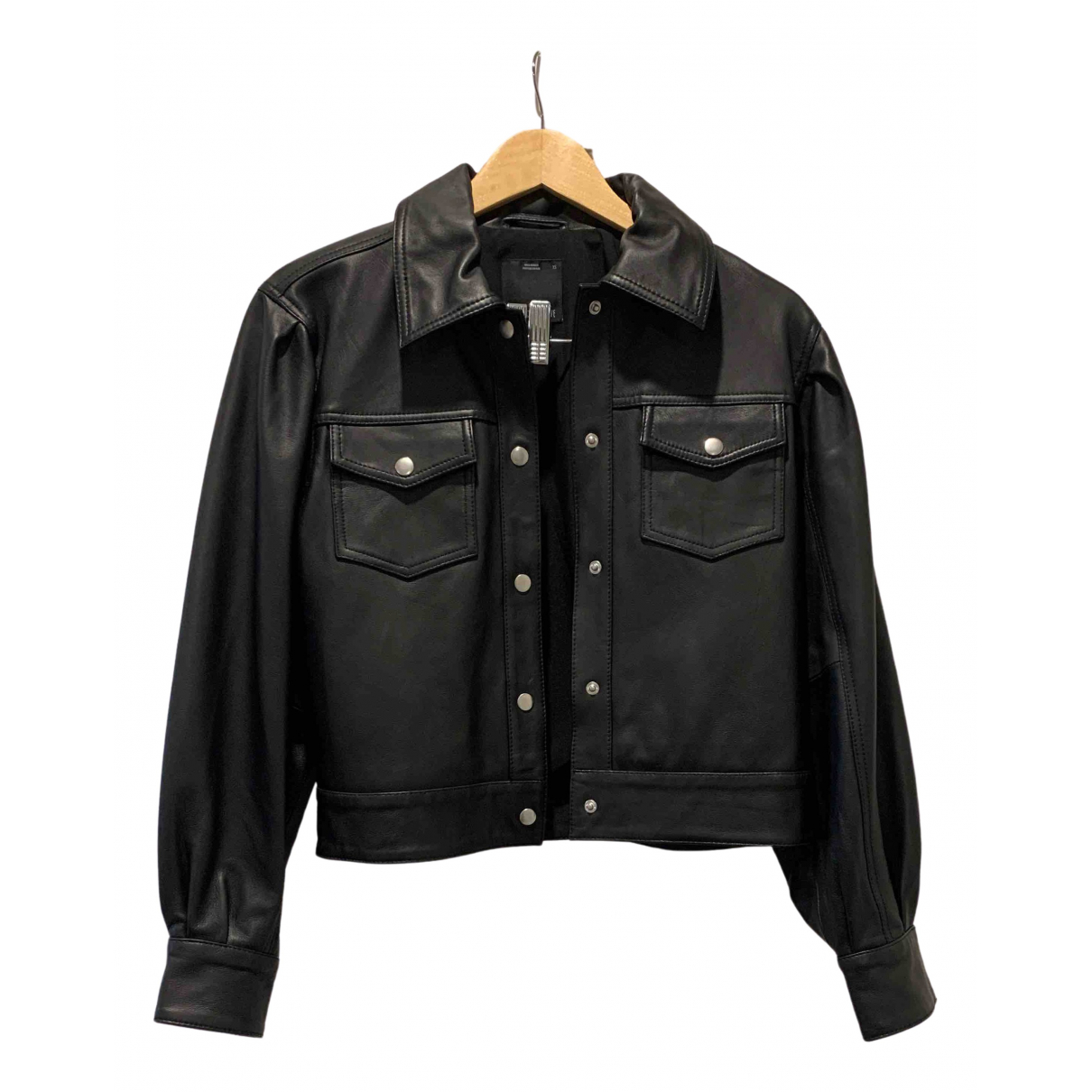 C/meo \N Black Leather jacket for Women XS International