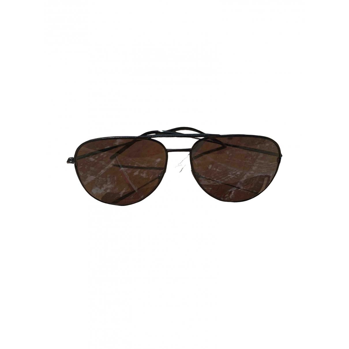 Saint Laurent \N Black Metal Sunglasses for Men \N