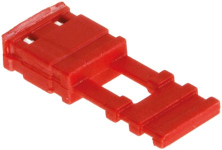 HARWIN Jumper Female Straight Red Closed Top, Handle Pull 2 Way 1 Row 2.54mm Pitch (5)