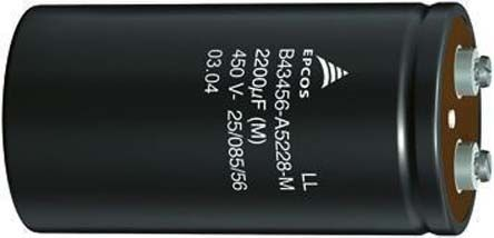 EPCOS 3300μF Electrolytic Capacitor 450V dc, Screw Mount - B43560A5338M