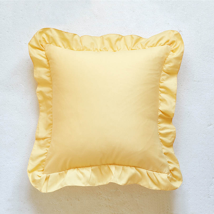 Pure Color Cushion Type Polyester Material Hand Wash Cleaning Throw Pillow Case
