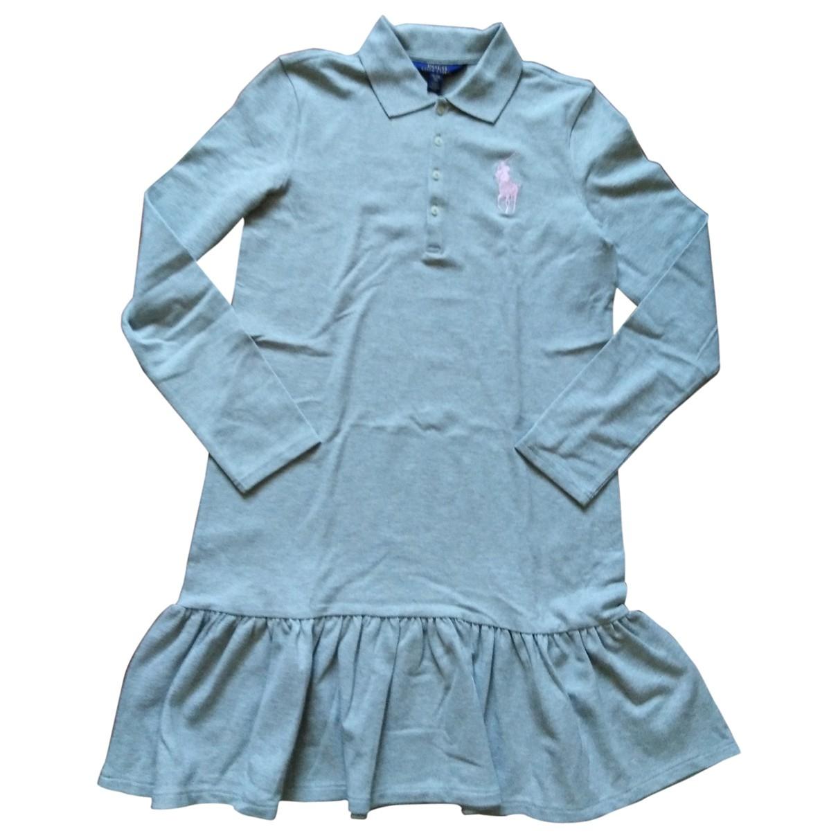 Polo Ralph Lauren - Robe    pour enfant en coton - gris