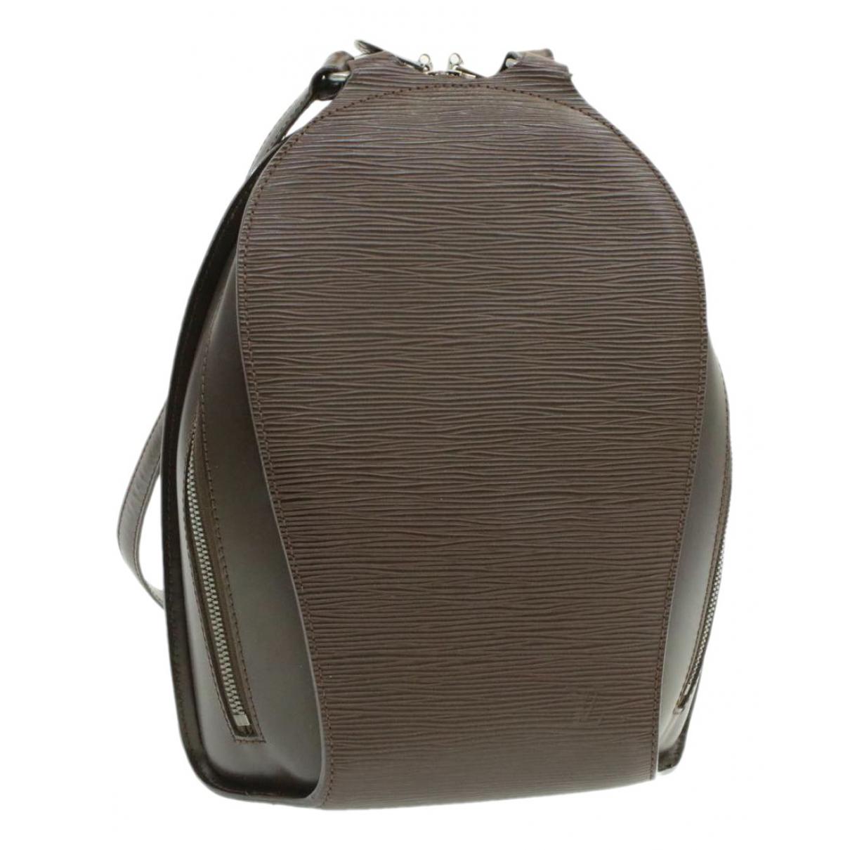 Louis Vuitton - Sac a dos Mabillon pour femme en cuir - marron