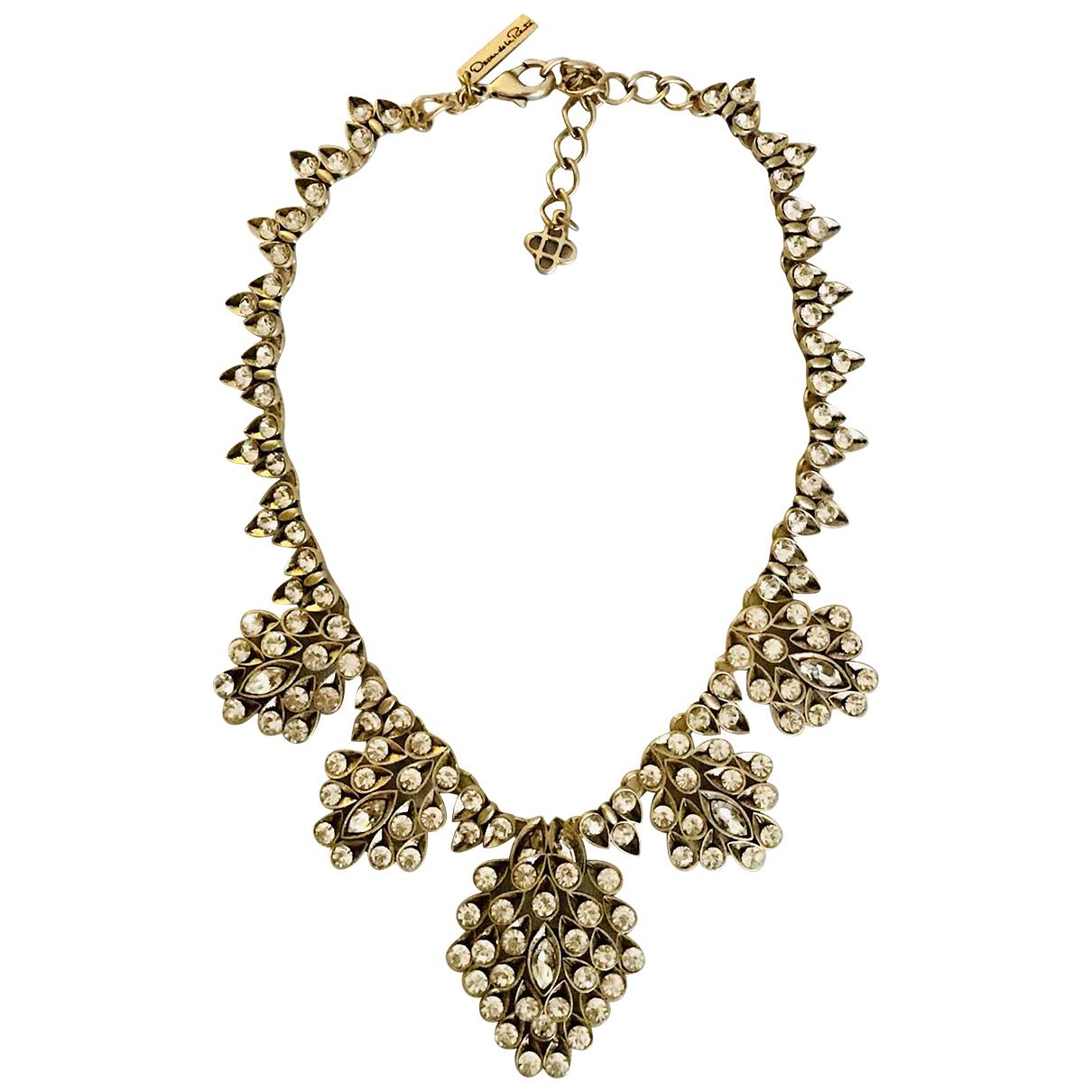 Oscar De La Renta \N White Metal necklace for Women \N