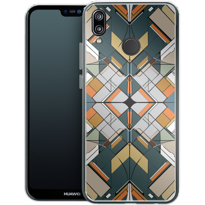 Huawei P20 Lite Silikon Handyhuelle - Mosaic I von caseable Designs