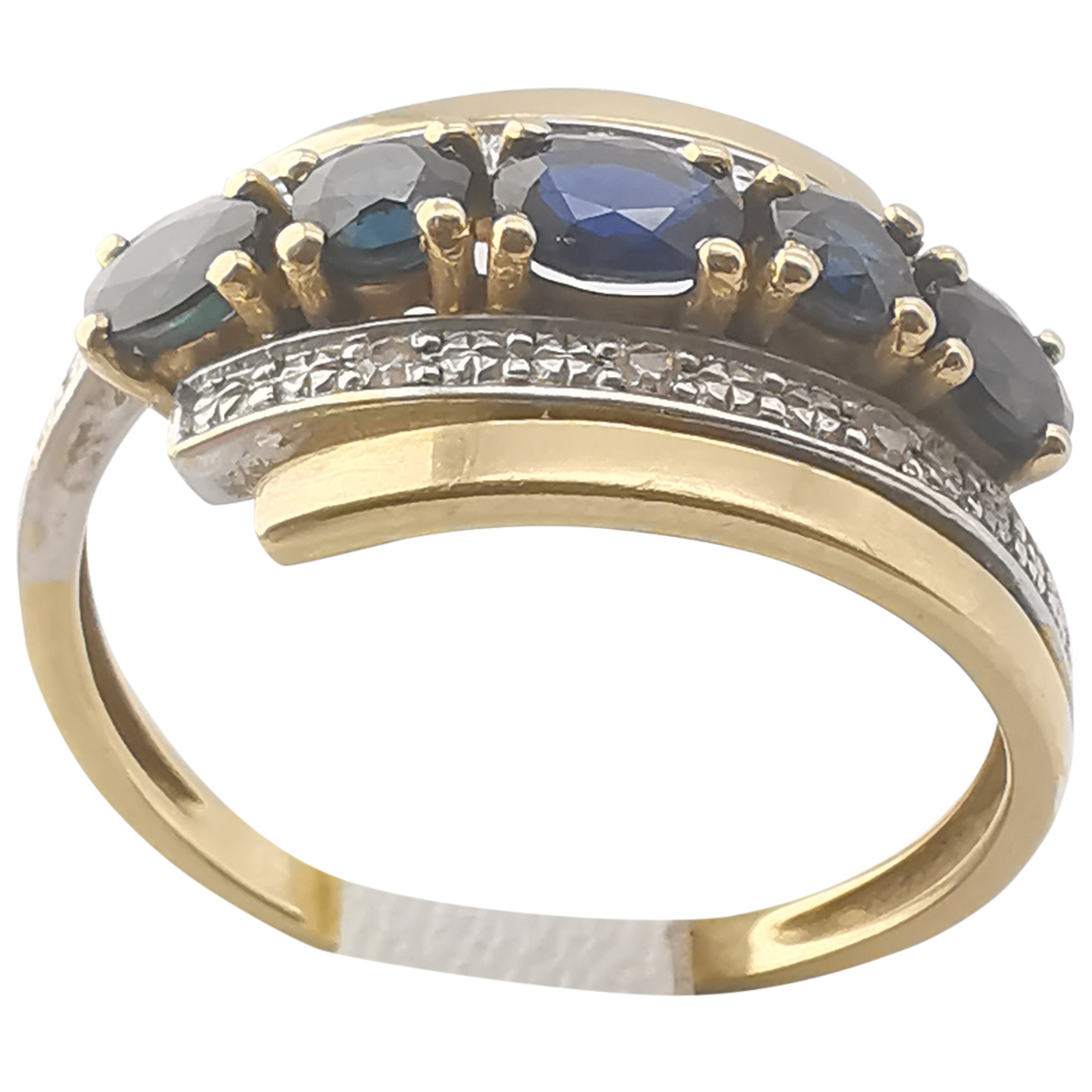 Non Signe / Unsigned Saphir Ring in  Gold Gelbgold