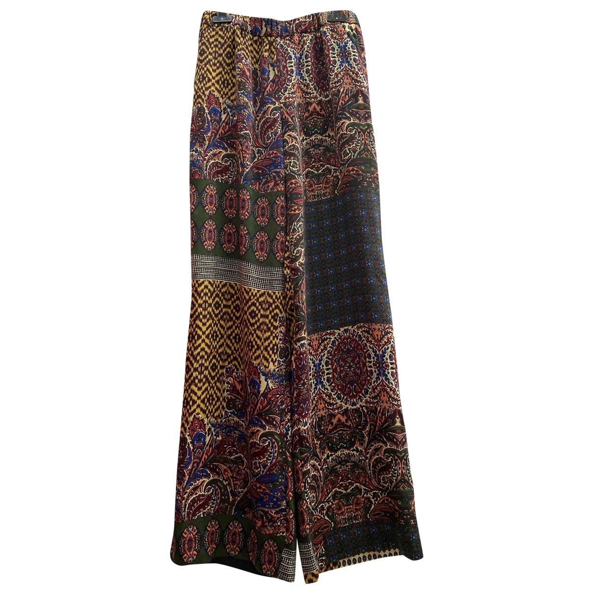 Zara \N Multicolour Trousers for Women 42 IT