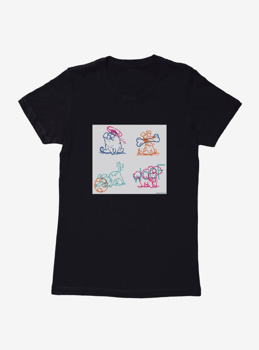 Simon's Cat Pet Sketches Womens T-Shirt