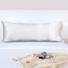Solid Satin Long Pillow Cover Without Filler