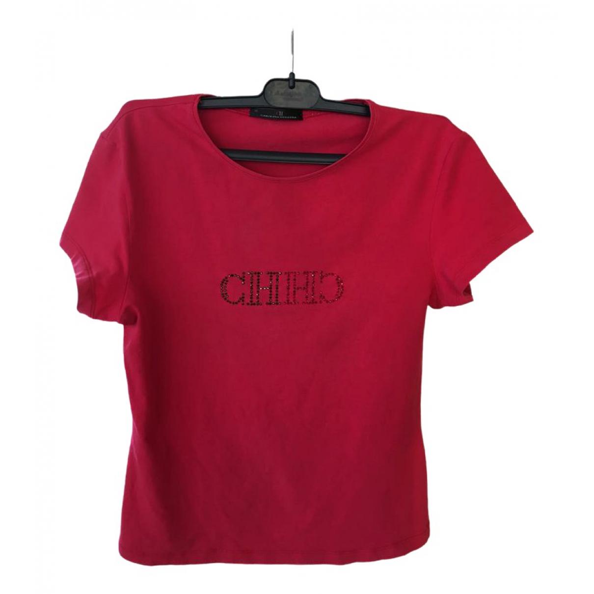 Carolina Herrera - Top   pour femme en coton - rouge