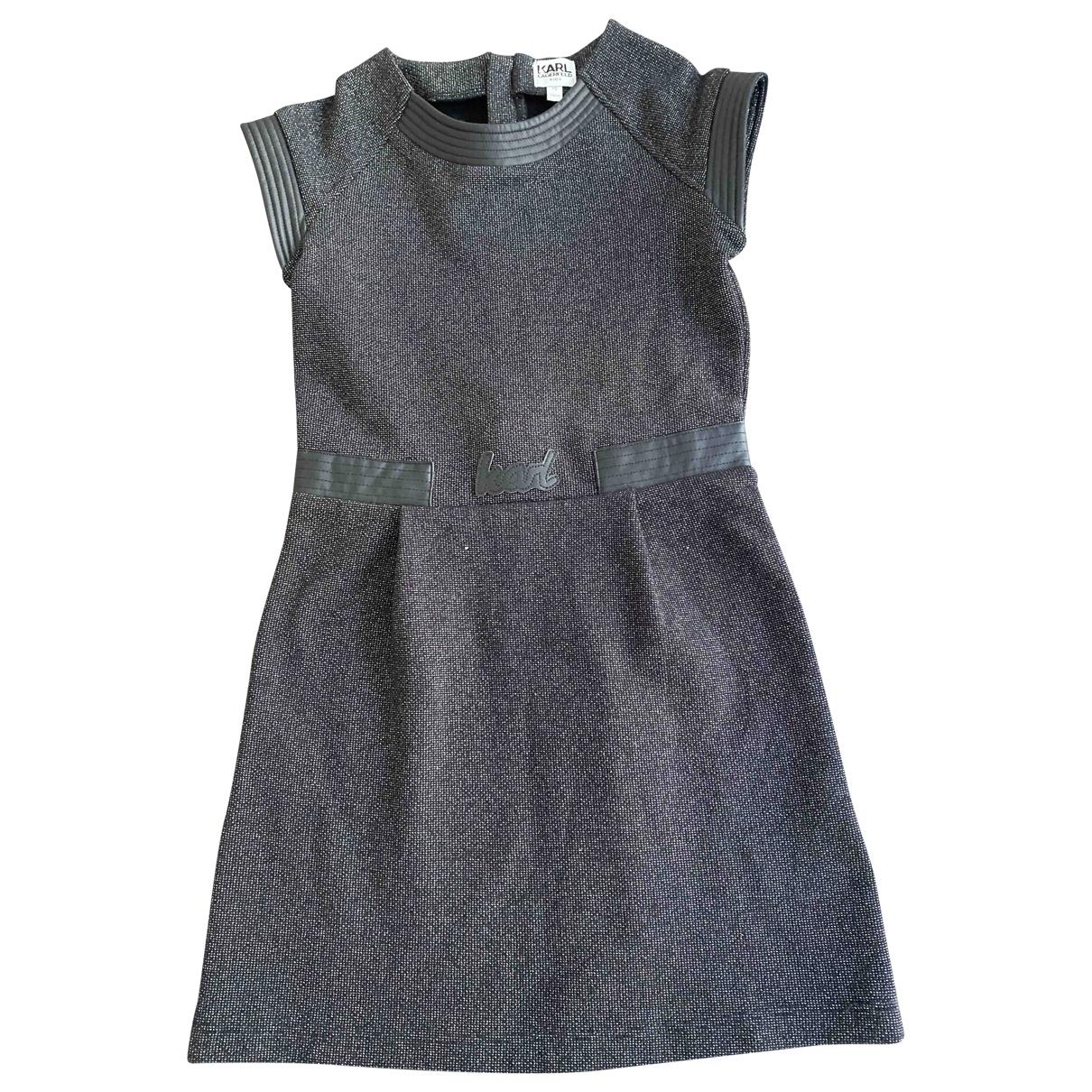 Karl Lagerfeld \N Kleid in  Schwarz Polyester