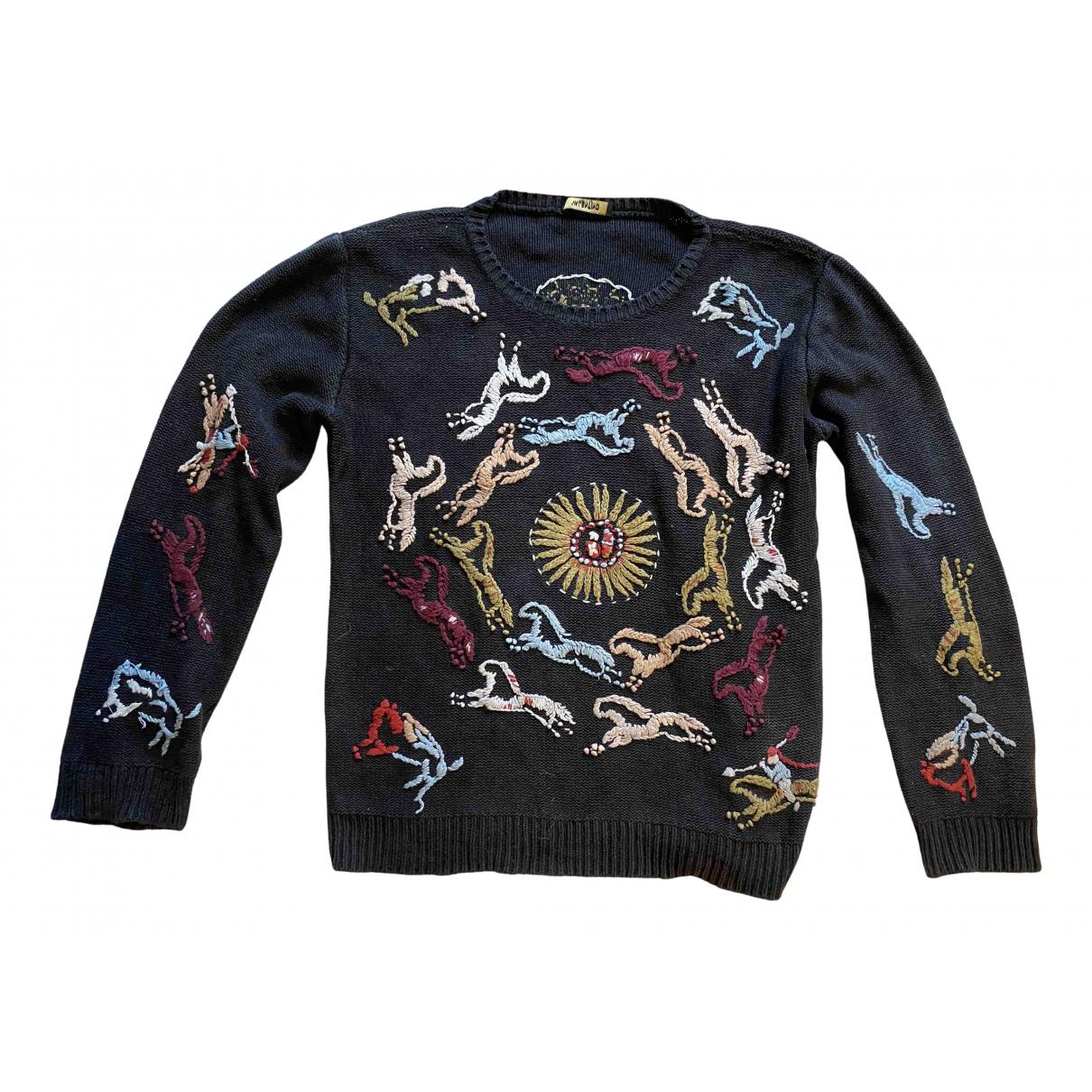 Valentino Garavani - Pulls.Gilets.Sweats   pour homme en coton - noir