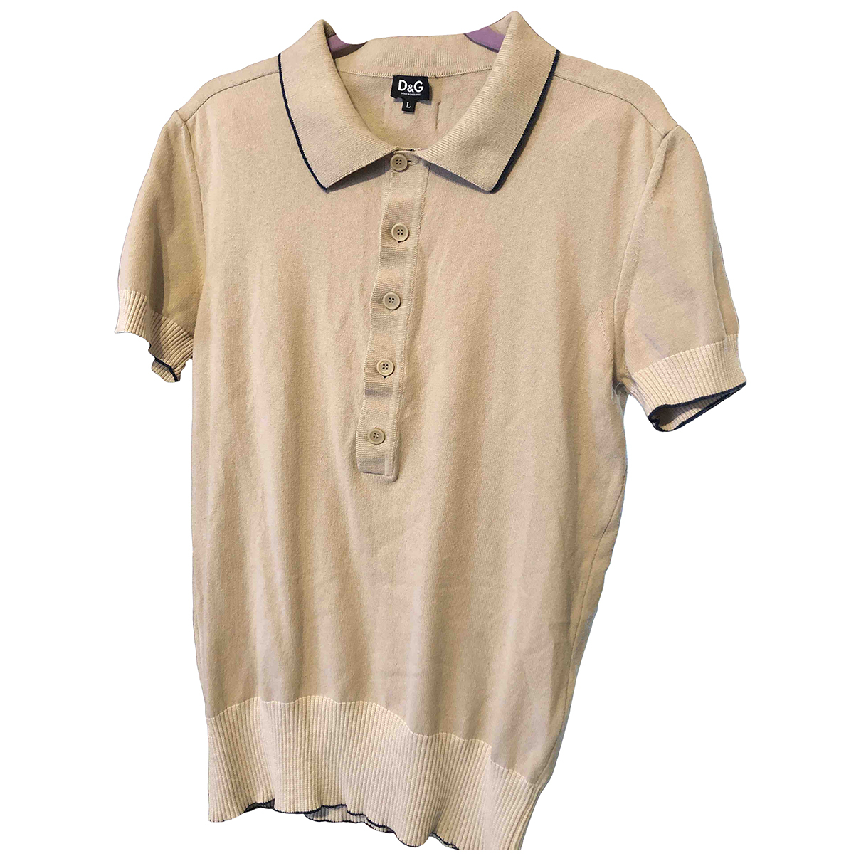 D&g \N Camel Cotton Polo shirts for Men L International