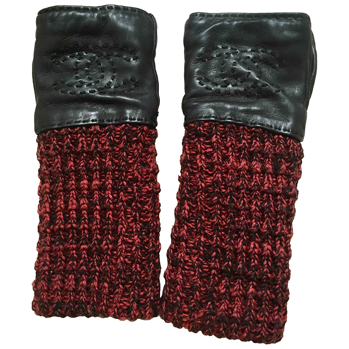 Chanel \N Handschuhe in  Schwarz Kaschmir