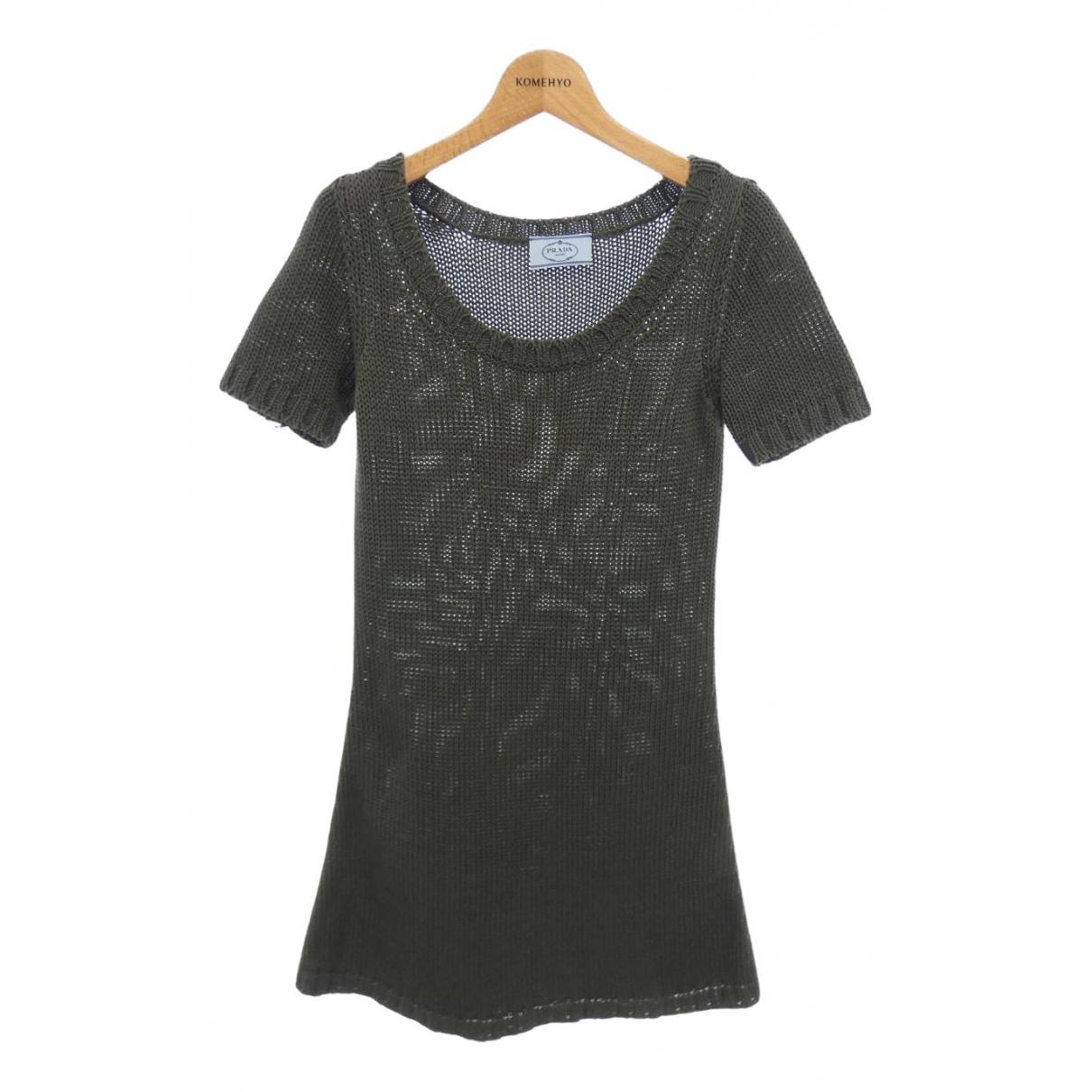 Prada \N Kleid in  Schwarz Polyester