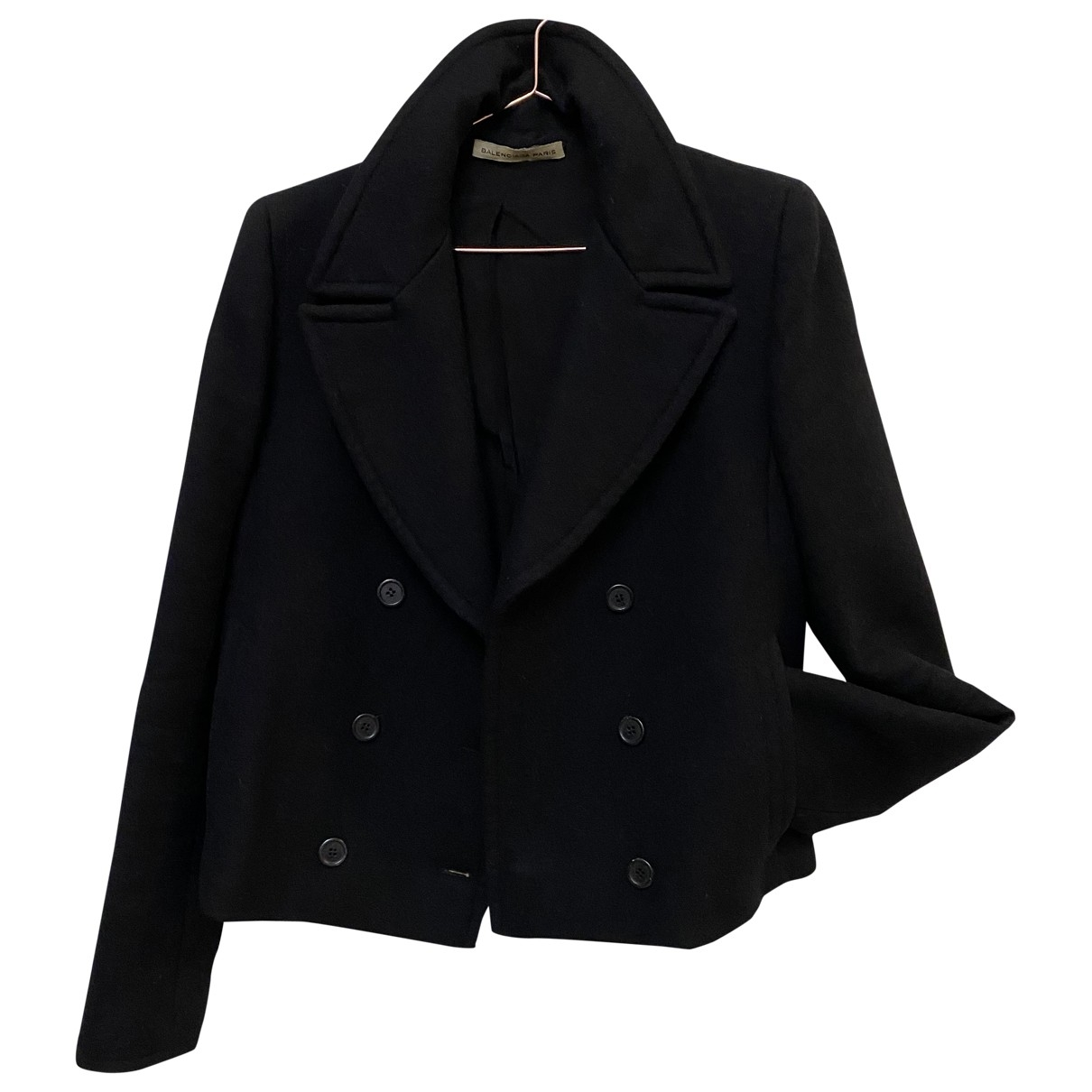 Balenciaga \N Jacke in  Schwarz Wolle
