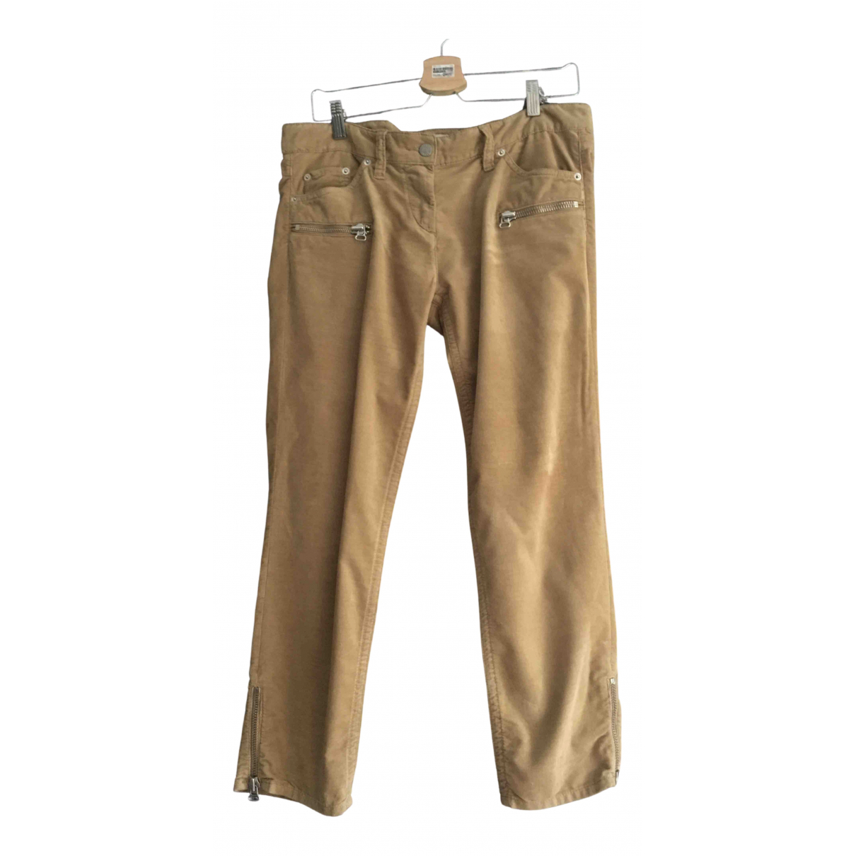 Isabel Marant Etoile N Camel Velvet Trousers for Women 42 FR