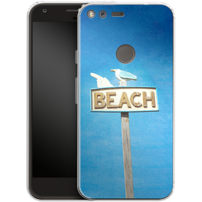 Google Pixel XL Silikon Handyhuelle - Beach von Joy StClaire