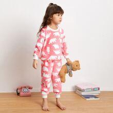 Homewear de niña pequeña Dibujos animados Dulce