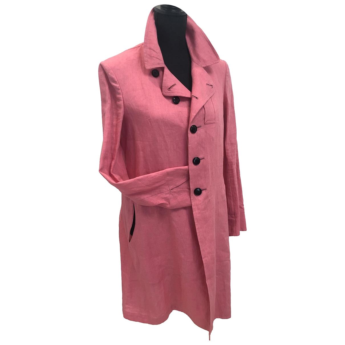 Yohji Yamamoto - Veste   pour femme en lin - rose