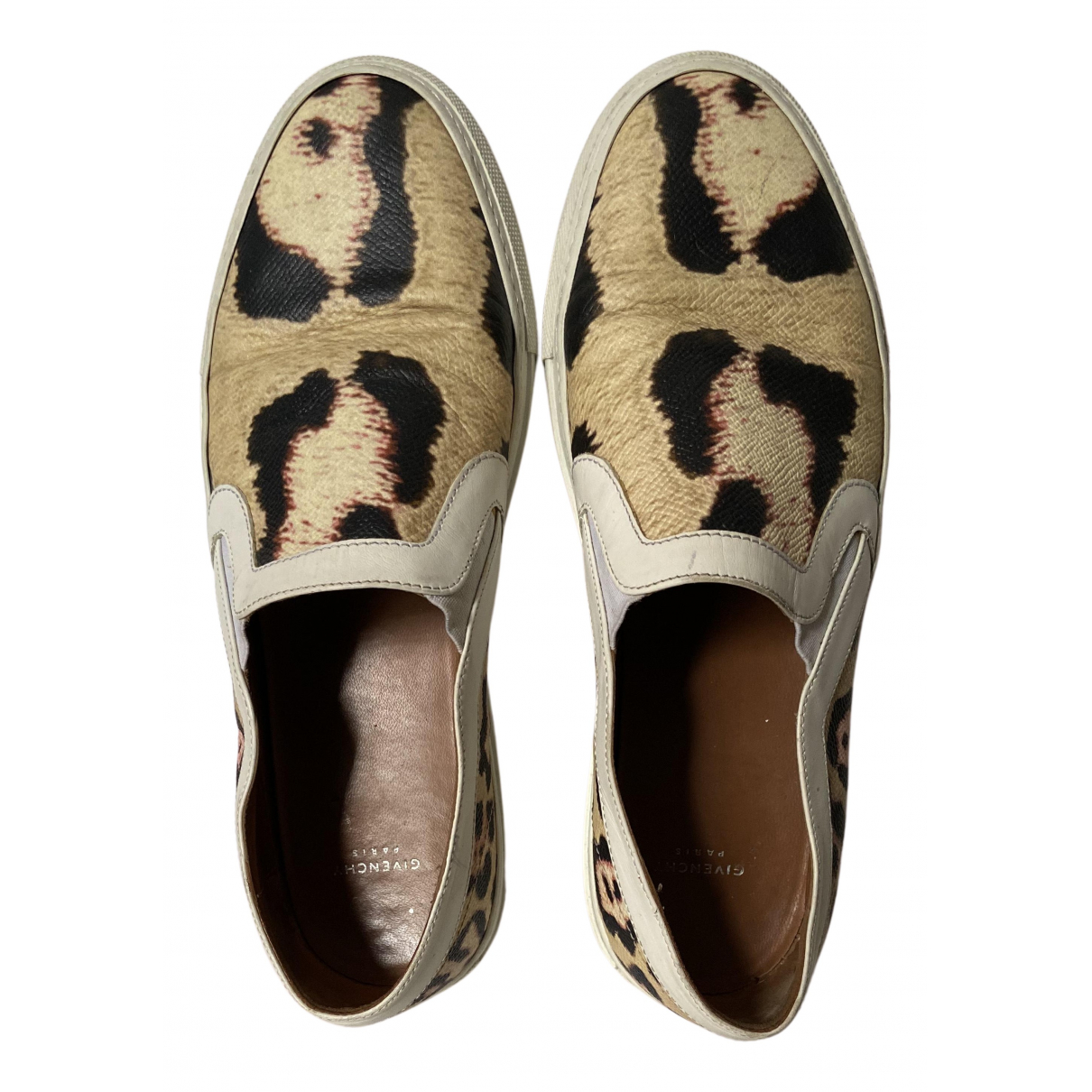 Givenchy N Beige Leather Trainers for Women 38 EU