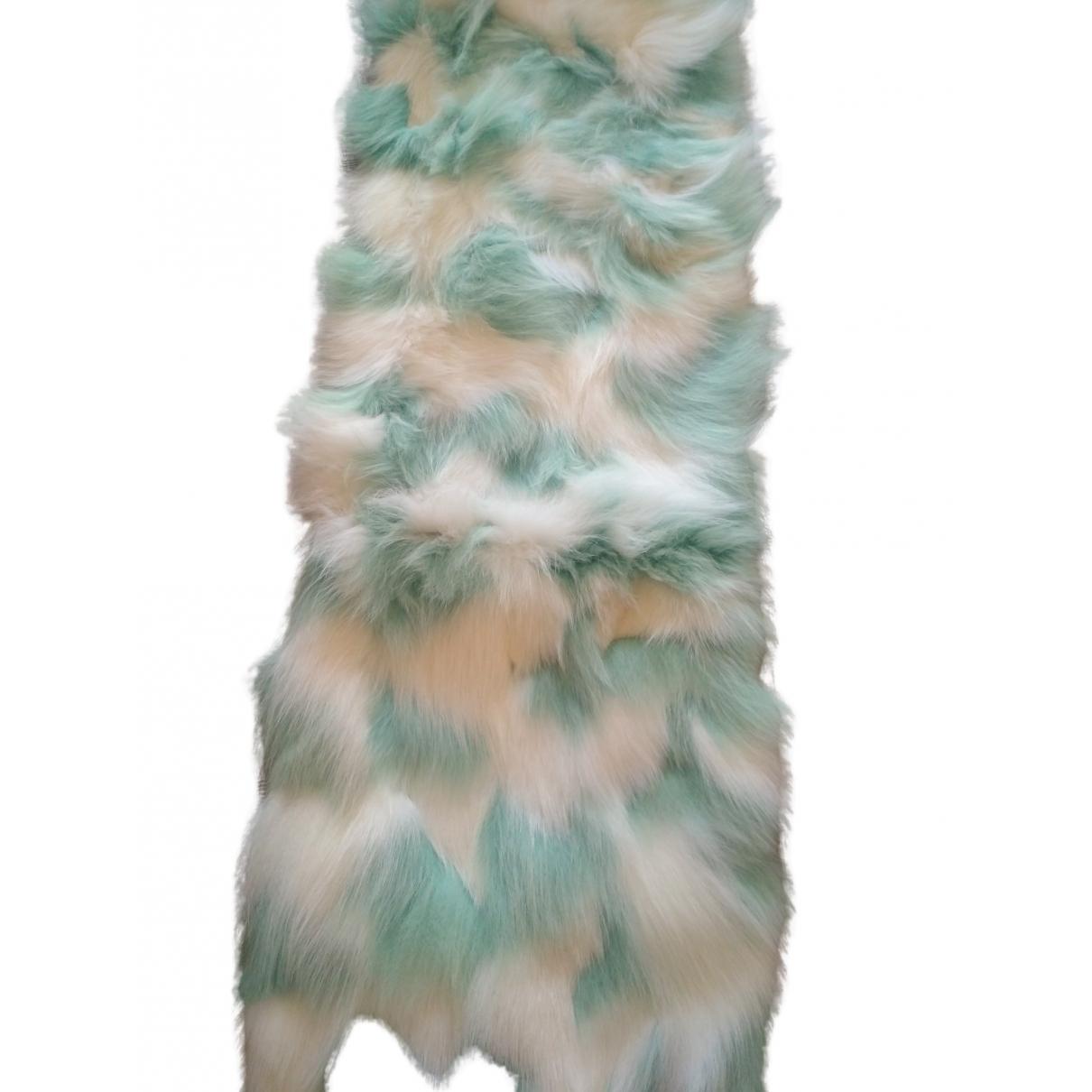 Miu Miu - Foulard   pour femme en fourrure - blanc