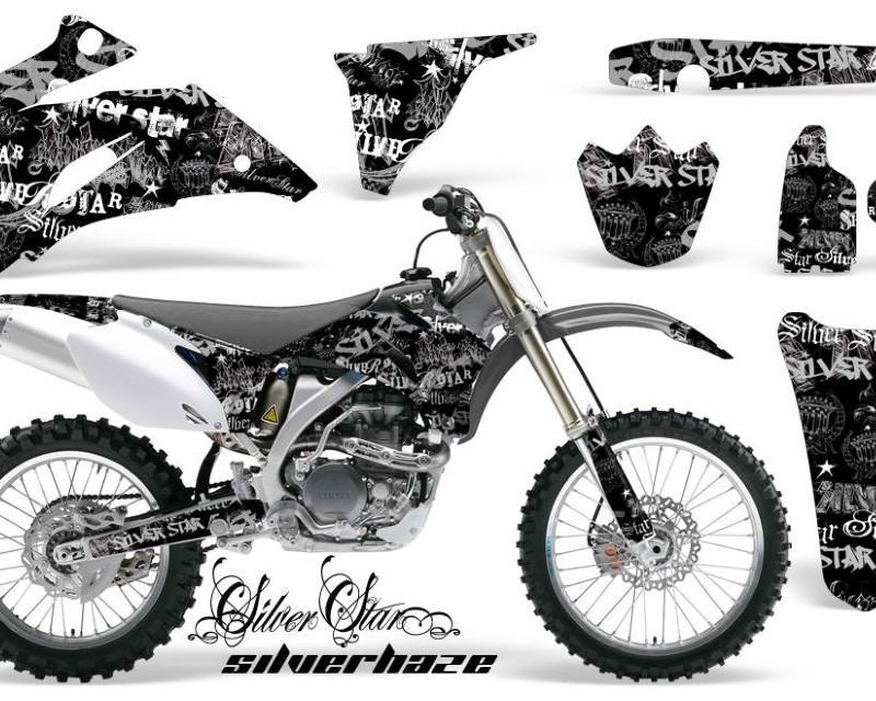 AMR Racing Dirt Bike Graphics Kit Decal Wrap For Yamaha YZ250F YZ450F 2006-2009áSSSH SILVER BLACK
