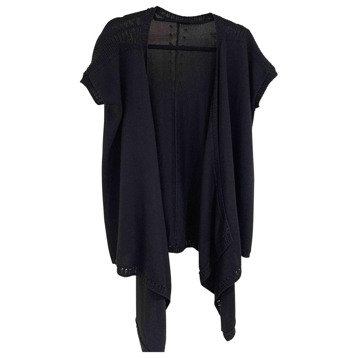 Donna Karan \N Pullover in  Schwarz Seide