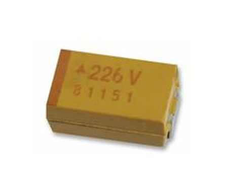 AVX Tantalum Capactitor 10μF 6.3V dc Electrolytic Solid ±10% Tolerance , TAJ (2500)