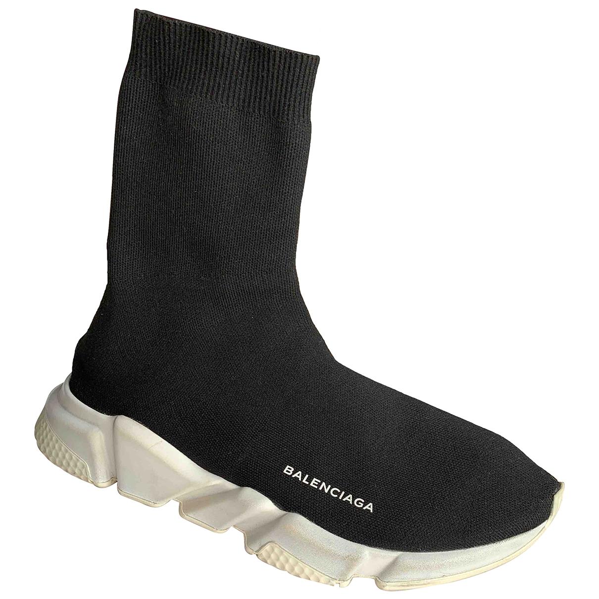 Balenciaga Speed Black Cloth Trainers for Men 43 EU