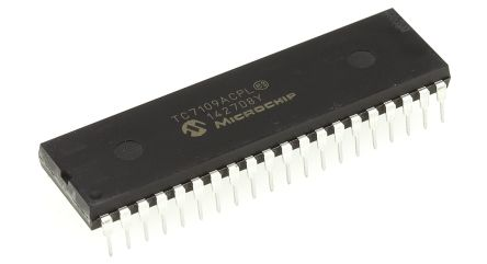 Microchip TC7109ACPL, 12-bit + Sign Parallel ADC Differential Input, 40-Pin PDIP
