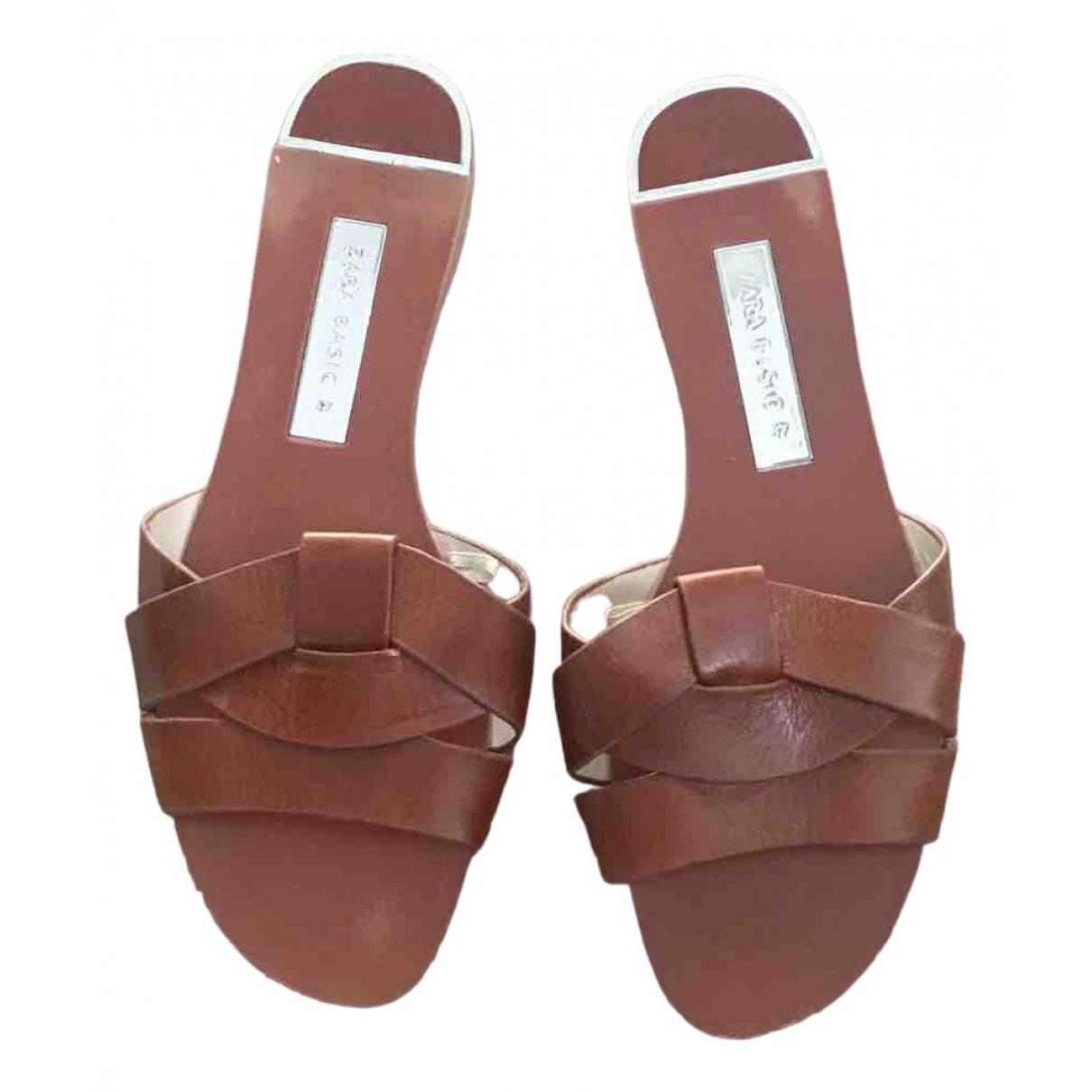 Zara \N Brown Sandals for Women 37 EU