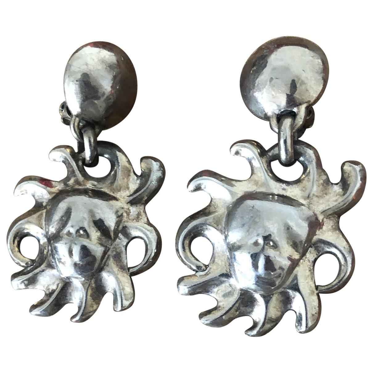 Kenzo - Boucles doreilles   pour femme en metal - argente