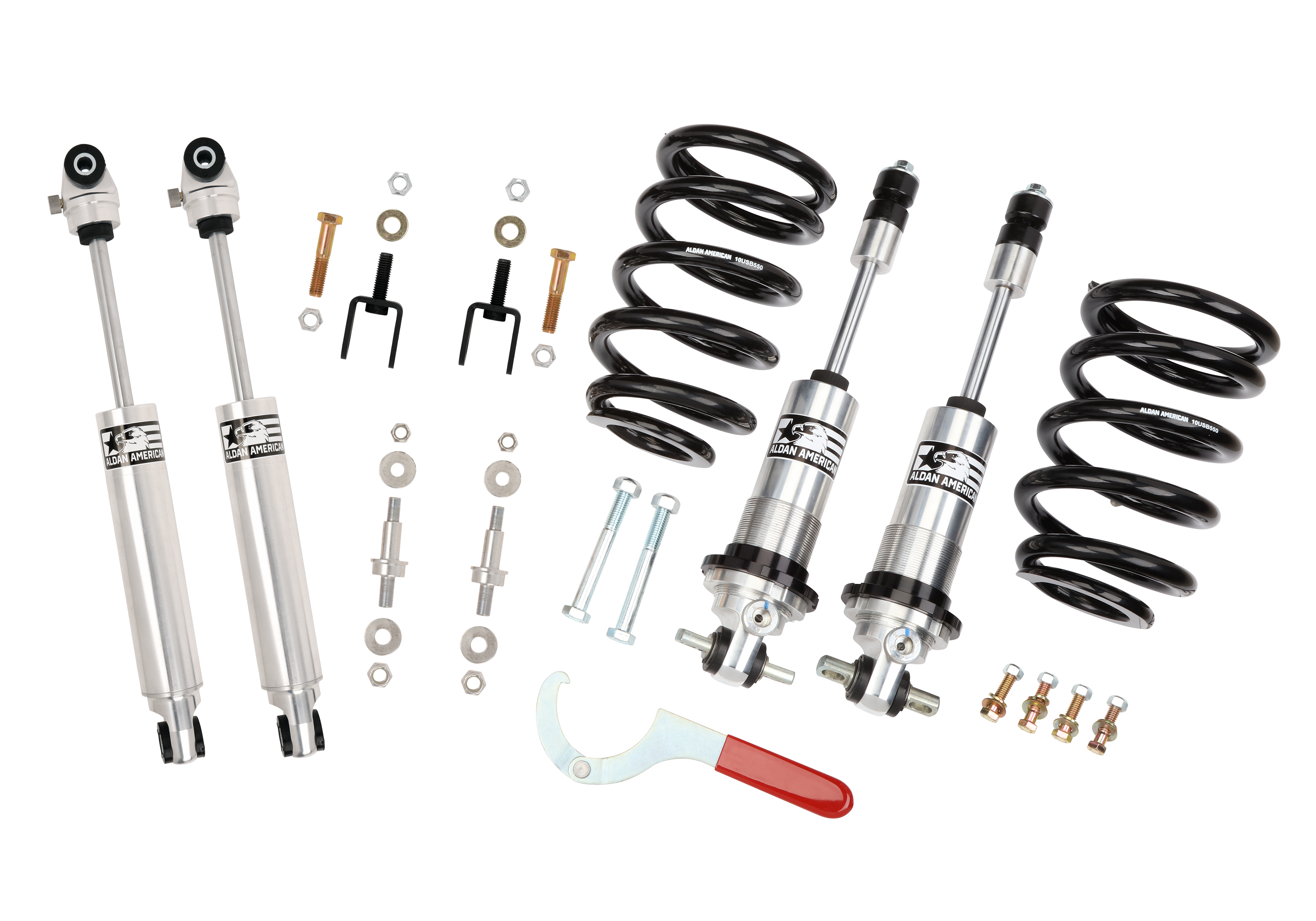 Aldan American 300161 Suspension Package, Road Comp, 72-79 Ford, Coilovers with Shocks, BB, Kit