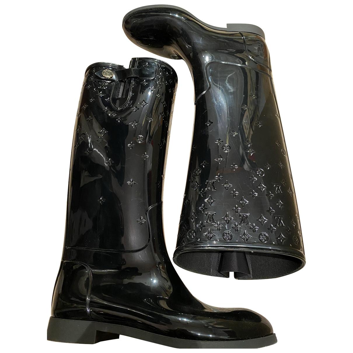 Louis Vuitton - Bottes Drops pour femme en caoutchouc - noir