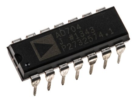 Analog Devices AD704JNZ , Op Amp, 800kHz, 14-Pin PDIP